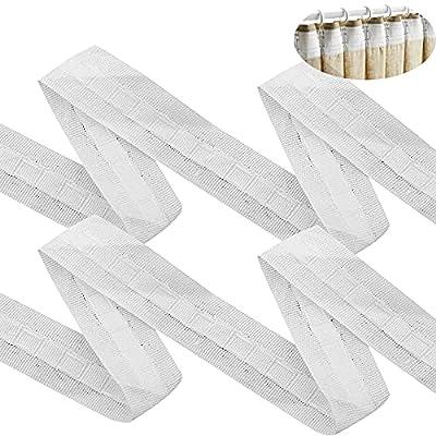 [Lo que recibe] Un paquete contiene 1 rollo de diadema de cortina. Cinta de cortina con un ancho de aprox. 3 cm y una longitud de aprox. 30 m, que se utiliza para amasar, bricolaje u otro tipo de cortinas. [Material] La diadema de cortina está tejida...