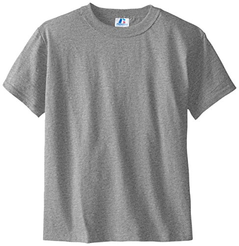Russell Athletic Boys' Big Cotton Blend T-Shirt, Basic Oxford, Medium