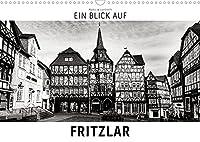 Ein Blick auf Fritzlar (Wandkalender 2022 DIN A3 quer): Ein ungewohnter Blick in harten Schwarz-Weiss-Bildern auf Fritzlar (Monatskalender, 14 Seiten )