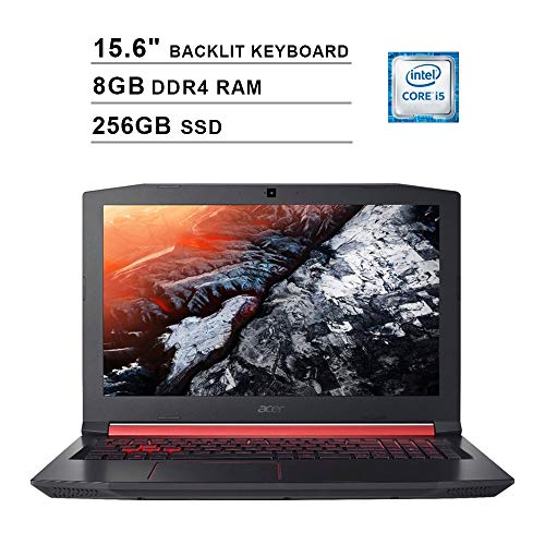 """8th Gen Intel Core i5-8300H quad-core mobile processor, Lightning Fast Graphics--NVIDIA GeForce GTX 1050 Ti with 4 GB of dedicated GDDR5 VRAM 15.6"""" Full HD (1920 x 1080) widescreen LED-backlit IPS Display, 8GB DDR4 RAM, 256GB Solid State Drive, No op..."""