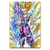 KASUP Dragon Ball Son Gohan Super Saiyan Art Poster Lienzo decorativo Pintura Estrella de cine Dormitorio 60 x 90 cm