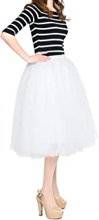 Best white tiered tulle skirt Reviews