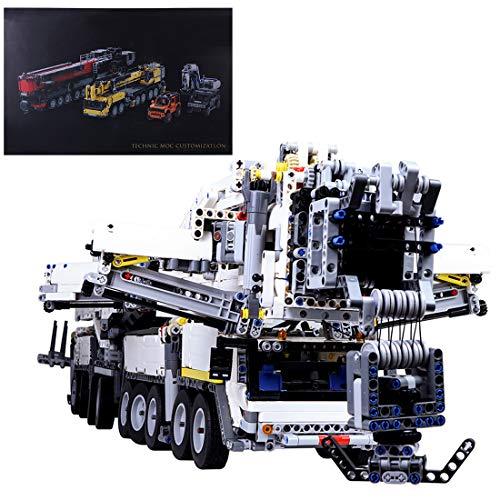 Gettesy Bloques de construcción para coche teledirigido 7692 bloques de construcción técnica RC Mammoth Giant Crane modelo para grúa Liebherr LTM 11200, Crane Bauset compatible con Lego Technic