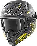 Shark Casco de moto VANCORE 2 KANHJI MAT AYK, Gris/Negro/Amarillo, S