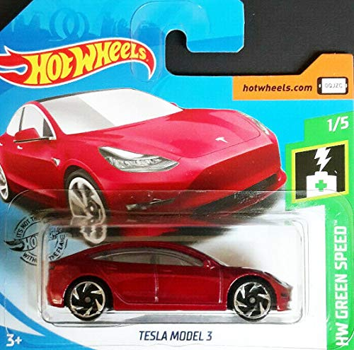 Hot.Wheels Tesla Model 3 - 1:64 - rot metallic