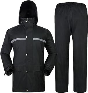 Yiiquan Unisex Adulto Pantaloni e Giacche Impermeabil, Tuta Antipioggia Completo per Bici Moto