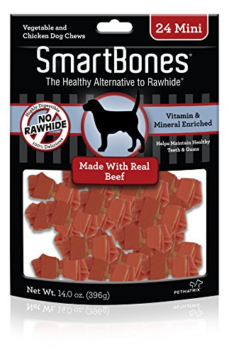 SmartBones Beef Dog Chew, Mini, 24 pieces/pack (066410)