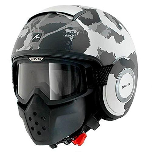 Shark シャーク Drak Kurtz Helmet 2017モデル ヘルメット ホワイト/グレー/ブラック XL(61~62cm)