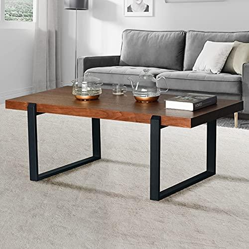 Wohnzimmertisch Holz, Kaffeetische, Wohnzimmertische, Wohnzimmertisch Rechteck (Elegantes Braun)