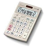 カシオ 本格実務電卓 12桁 検算機能 グリーン購入法適合 テレワークの効率UP ジャストタイプ ゴールド JS-20WK-GD