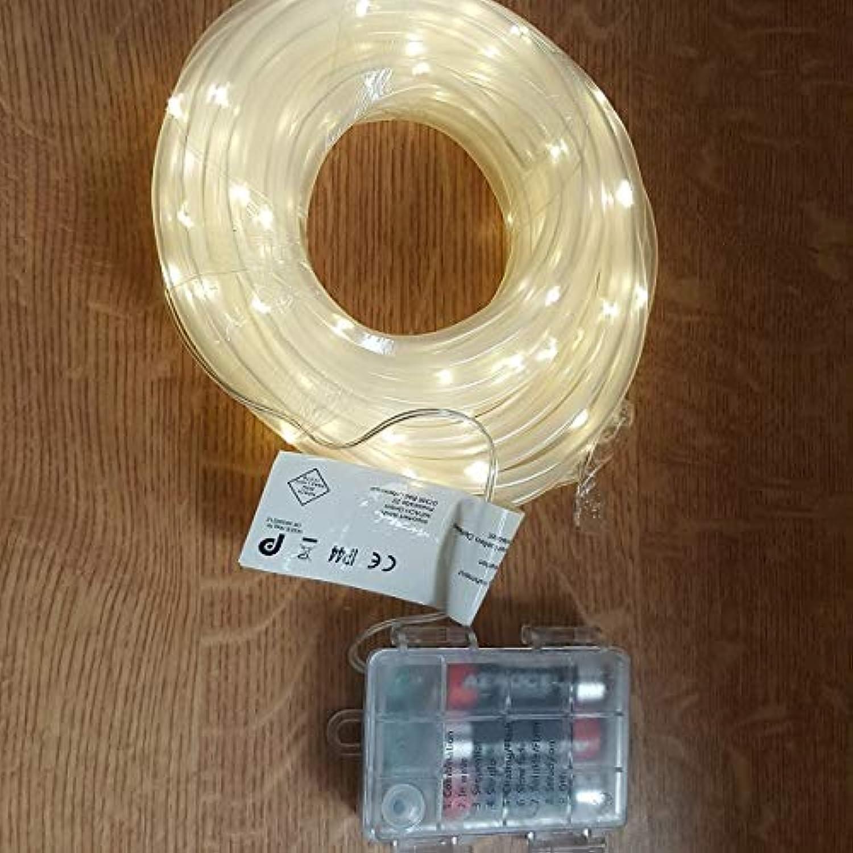 LED Mini-Lichtschlauch 5m 5mm warmwei Timer Batterie Fernbedienung auen BA11261