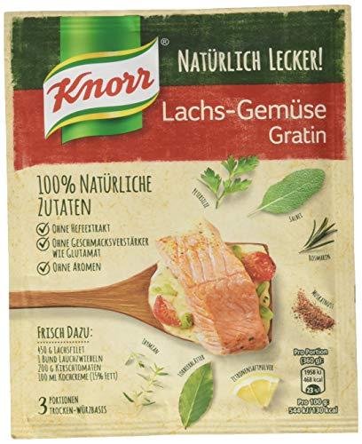 Knorr Natürlich Lecker! Würzbasis für die einfache Zubereitung Lachs-Gemüse Gratin aus 100% natürlichen Zutaten, 15 x 42 g