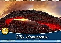 USA Monuments - Landschaften die beeindrucken (Wandkalender 2022 DIN A2 quer): Einzigartige Monumente der Natur (Monatskalender, 14 Seiten )
