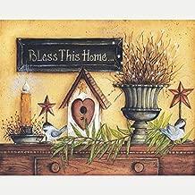 Diy 5D Diamond Painting Kit, Full Drill Bless This Home Rhinestone Arts Craft Canvas Wall Decor, 17.7 X 23.6 Inch(Frameless)