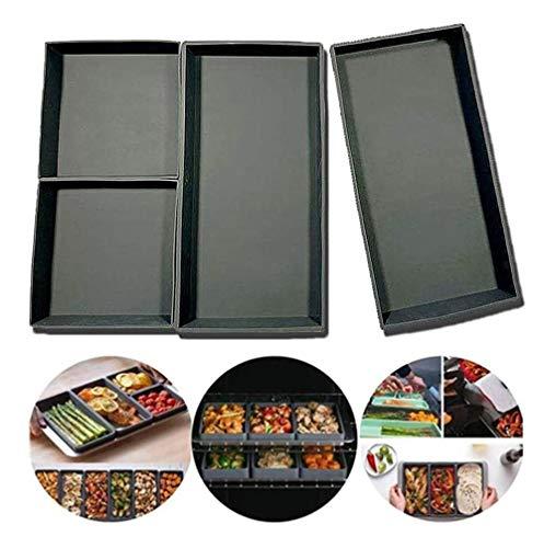 SGR SHOPS Silikon-Backformen Antihaft-Backblech Blechpfanne Kochen Neu interpretiertes Silikon-Backblech Vierteiliges Backgeschirrset Backblech Küchenzubehör