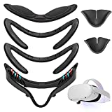 VR Facial Interface Bracket for Oculus Quest 2, VOKSUN Non-Slip Face Cover Pad Replacement & Protective Lens Cover & Anti-Leakage Nose Pad Custom, Sweat-Proof Breathable Washable VR Face Cover