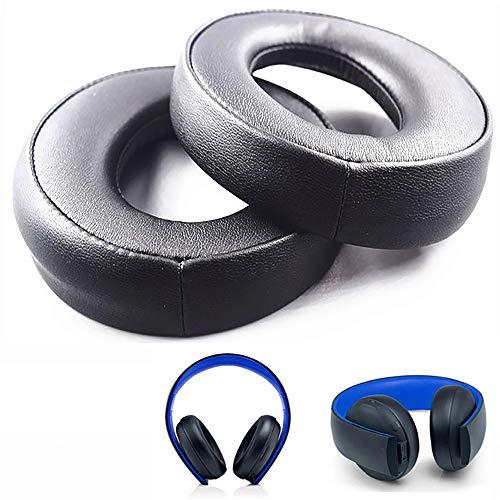 Almohadilla de Repuesto Oído Cojínes para Sony pS3 pS4 Gold Wireless Playstation 3 Playstation 4 CECHYA-0083 Stereo 7.1 Virtual Surround