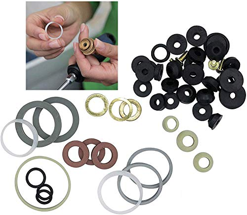 Azi 45pc Complete Home Washer Plumbing Repair Kit Assortment DIY and Professional Repairs – Plumbing Emergencies, Worn Out Washer Replacements
