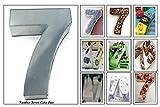 EURO TINS Teglia grande numero SETTE per dolce di compleanno o ricorrenza (misura 35.5 x 25.4cm - profondità 7.6cm)