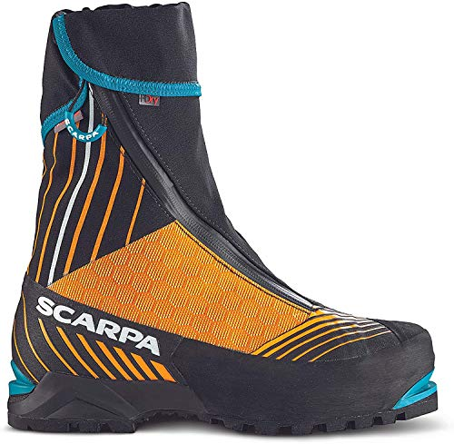 Scarpa M Phantom Tech Orange-Schwarz, Herren Primaloft Bergschuh, Größe EU 43.5 - Farbe Black - Bright Orange