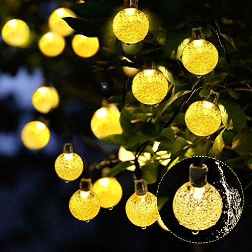Preisvergleich Produktbild LED Solar Party Lichterkette Außen MY CARBON Wasserdicht 6m / 30LEDs Warmweiß für Garten Hochzeit Party Weihnachtsbeleuchtung Lichtervorhang Lichtschlauch Innen- und Außenbeleuchtung