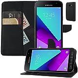 MOELECTRONIX Buch Klapp Tasche Schutz Hülle Wallet Flip Hülle Etui passend für Samsung Galaxy Xcover 4 SM-G390F
