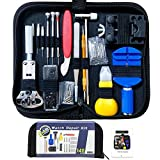 Watch Repair Kit, Battery Replacement Tool Kit/Link Remover Kit, Spring Bar Tool Set with Professional Case Compatible with Timex/Fossil/Guess/Casio/Rolex Watch