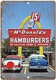 HiSign McDonalds Hamburger Neon Blechschilder Metall Poster