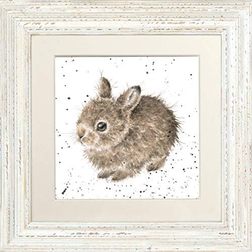 Wrendale Designs Little Leveret Baby Bunny Photo encadrée signée 44 cm (Blanc)