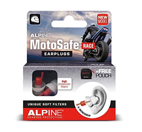 Alpine Motosafe Race Ohrstöpsel Gehörschutz für Motorradfahrer Filterohrstöpsel