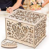 GLM Wedding Card Box, Rustic Wedding Decorations and Country Wedding Decorations, Card Box for Wedding Reception, Bridal Shower, and Anniversary (Brown)