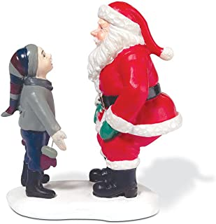 Department 56 A Christmas Story Village Higbee's Santa and Ralphie Accessory Figurine