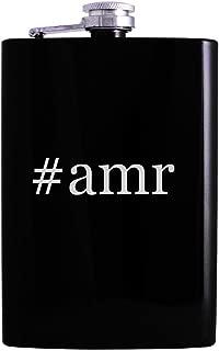 #amr - 8oz Hashtag Hip Alcohol Drinking Flask, Black