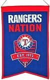 Winning Streak MLB Baseball Texas Rangers Nation Wimpel Pennant Wool Blend Banner 54x35 -