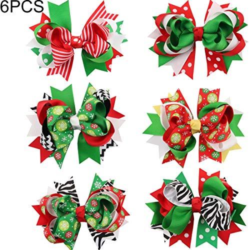 Wei Hongyu 6 Stück Schwalbenschwanz Schmetterling Knoten Weihnachten Haarnadel Weihnachten Kopfschmuck für Kinder