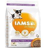 IAMS for Vitality Alimento para Cachorros Pequeños y Medianos con pollo fresco, 3 kg