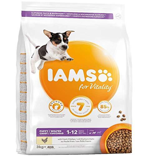 Iams for Vitality alimento Secco per Cuccioli di Taglia piccola e media - 3 kg