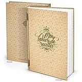 Libro de recetas'Mon cahier de recettes' francés (tapa dura A4, páginas en blanco) para tus propias recetas finas, no solo para quiche y crepes