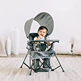 Baby Delight Go with Me Venture Chair|Indoor/Outdoor Portable Chair with Sun Canopy|Gray|3 Child Growth Stages: Sitting, Standing and Big Kid|3 Months to 75 lbs|Weather Resistant