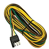 Wishbone Style Trailer Wiring Harness with 4-Flat Connector 35 FEET