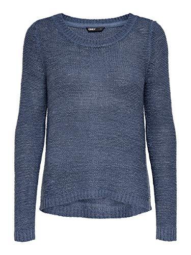 Only onlGEENA XO L/S Pullover Knt Noos, Maglione Donna, Vintage Indigo, 40 (Taglia Produttore: L)