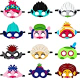 Trolle Maske für Kinder, Trolle Welt Tour Filz Maske Party begünstigt Kinder Dress Up Kostüm...