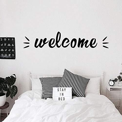 N\A Pegatinas de Pared de Bienvenida Creativas para Pegatinas de Pared de Dormitorio decoración Pegatinas de decoración Mural de la Vida en el hogar
