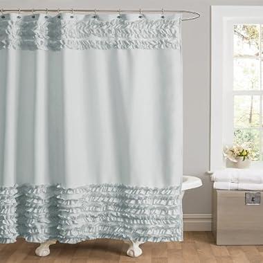 Lush Decor Syke Shower Curtain, 72 by 72-Inch, Blue