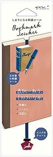 デザインフィル ミドリ しおり シール 刺繍 万年筆柄 82465006