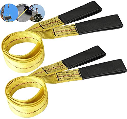 CarBole 6' x 2' Lifting Sling with Flat Loop,2 Pack Strong Heavy Duty...