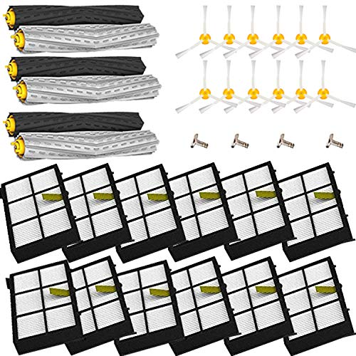 Amyehouse Tangle-Free Debris Extractor Set and Filter 3 Arm Brush for iRobot Roomba 800 900 Series 805 860 870 871 880 890 960 980 981 985 Vacuum Replacement Parts