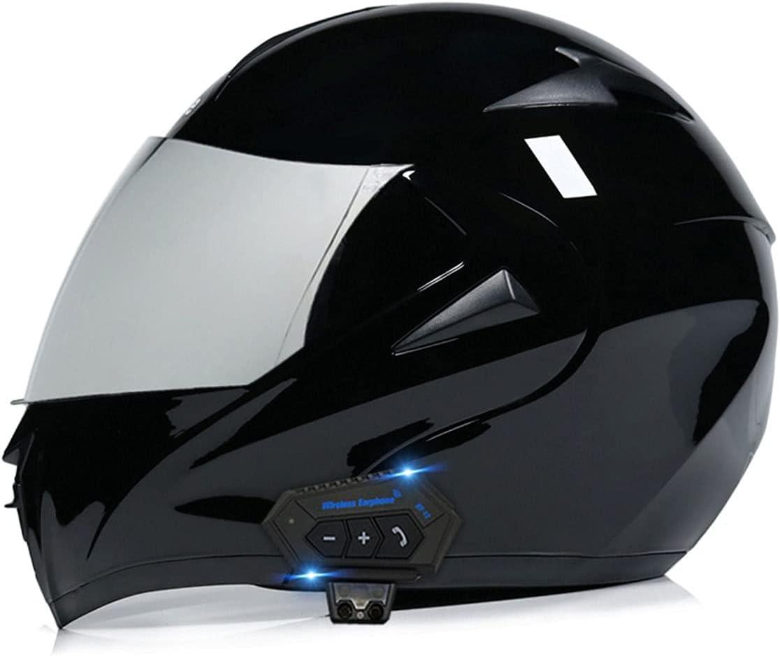 RENTOOR Motorcycle Bluetooth Helmet Double Regular store Sun Flip-Type Modular Detroit Mall