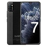 CUBOT Note 7 Handy, Smartphone ohne Vertrag, 4G Android 10 Go, 5.5 Inch HD Display, 13MP Dreifach Kamera, 3100mAh Akku, 2GB/16GB, 128GB erweiterbar, Dual SIM (Schwarz) (Generalüberholt)