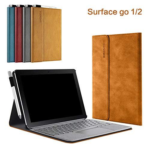 surface Go/Go 2(2018/2020モデル) 第二世代 ケース/カバー スタンド機能 レザー ペン収納ホルダー付き 手帳型 ブックカバー型 フリップカバー型 サーフェス サーフェイス マイクロソフト Microsoft おしゃれ タブレットP